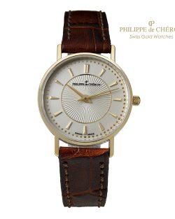 Reloj de Colección para mujer PHILIPPE DE CHERON Oro 14 K correa marrón