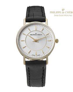Reloj de Colección para mujer PHILIPPE DE CHERON Oro 14 K correa negra