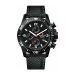 Reloj para hombre Swiss Alpine Military Red Force Cronógrafo de cuero negro