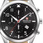 Reloj suizo para hombre Swiss Military Hanowa Helvetus Chrono Dial Negro